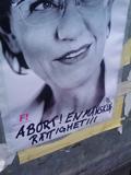 Gudrun Schyman på Feministiskt initiativs affisch.