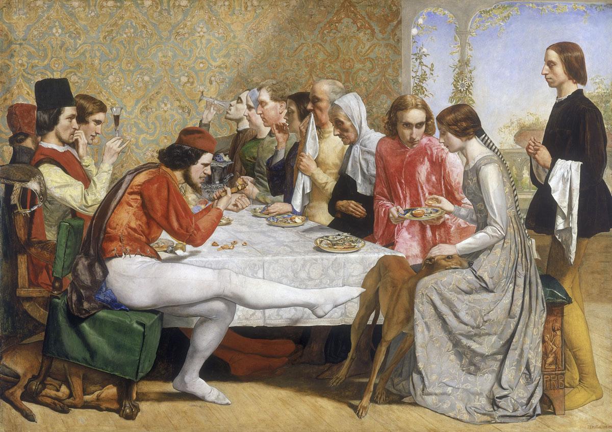 John Everett Millais: Isabella, från Nationalmuseums utställning Prerafaeliterna (Lady Lever Art Gallery)