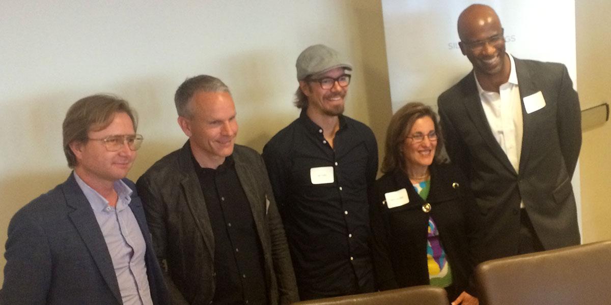 Panelen på Silicon Vikings seminarium om Digital Health (foto: Magnus Nilsson)