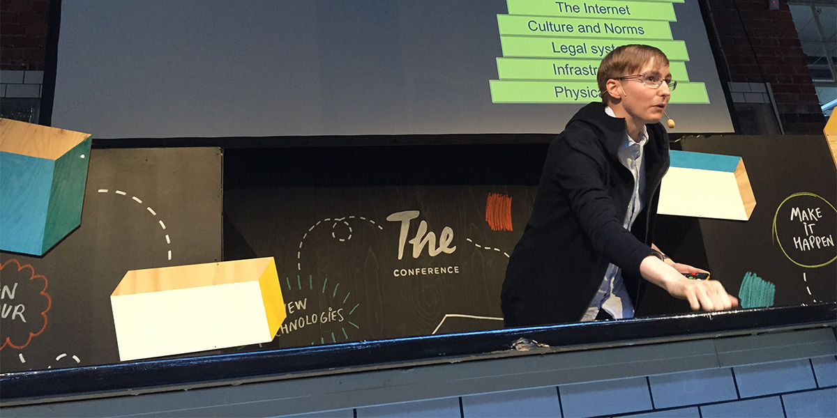 Andie Nordgren på The Conference (foto: Magnus Nilsson)