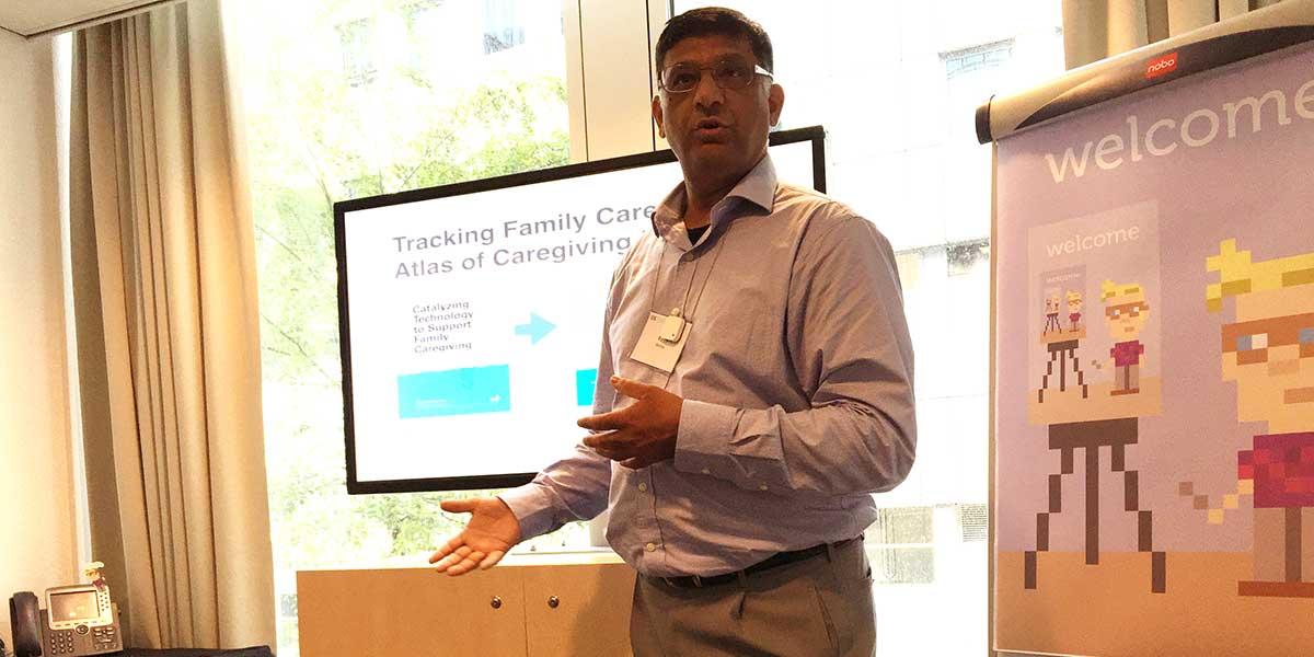 Rajiv Mehta på konferensen Quantified Self Europe i Amsterdam (foto: Magnus Nilsson)