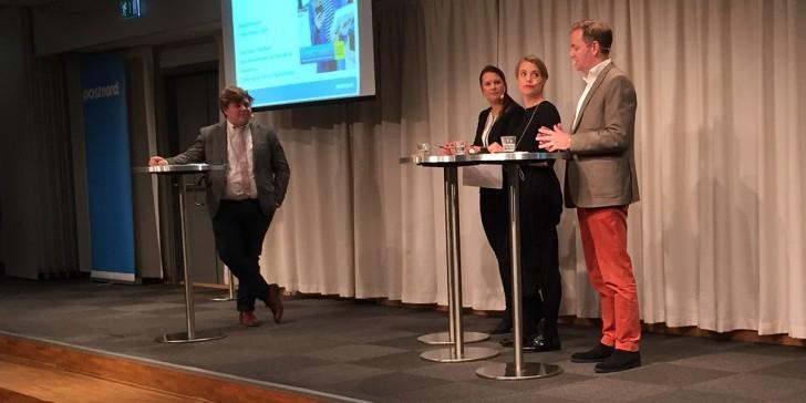 Anton Johansson, Carin Blom, Sara Wimmercranz och Jonas Ogvall om E-barometern 2015 (foto: Magnus Nilsson)