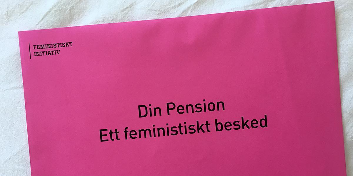 Din pension - ett feministiskt besked, kampanj i Almedalen 2016 (foto: Magnus Nilsson)