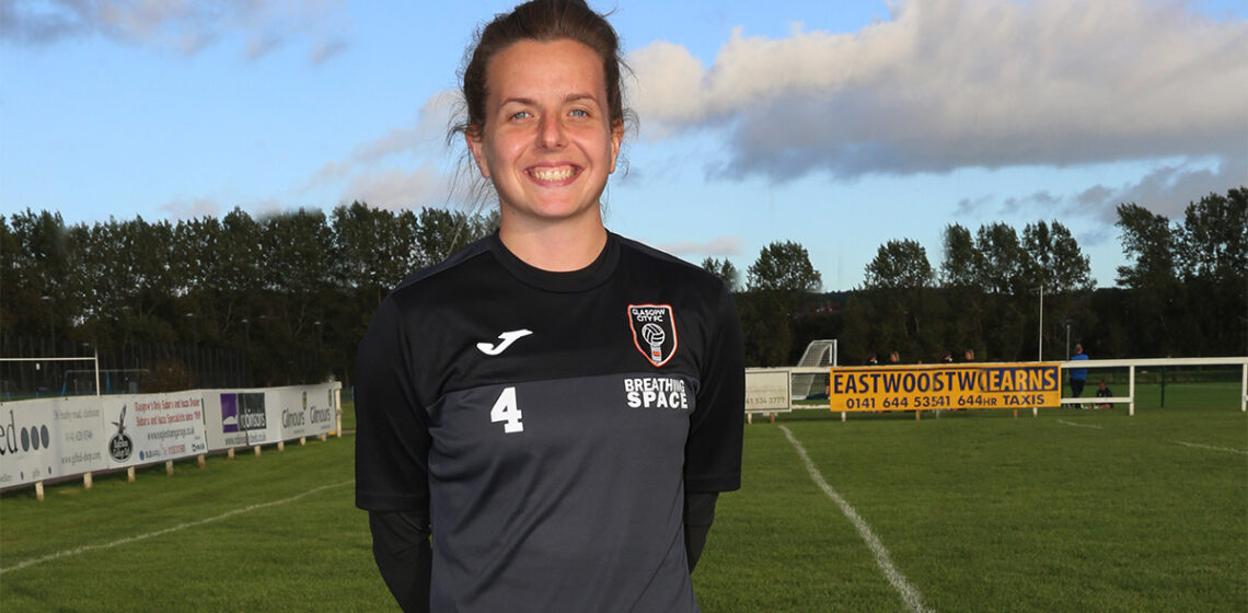 Hayley Lauder i Glasgow City sponsras av Portabla Media